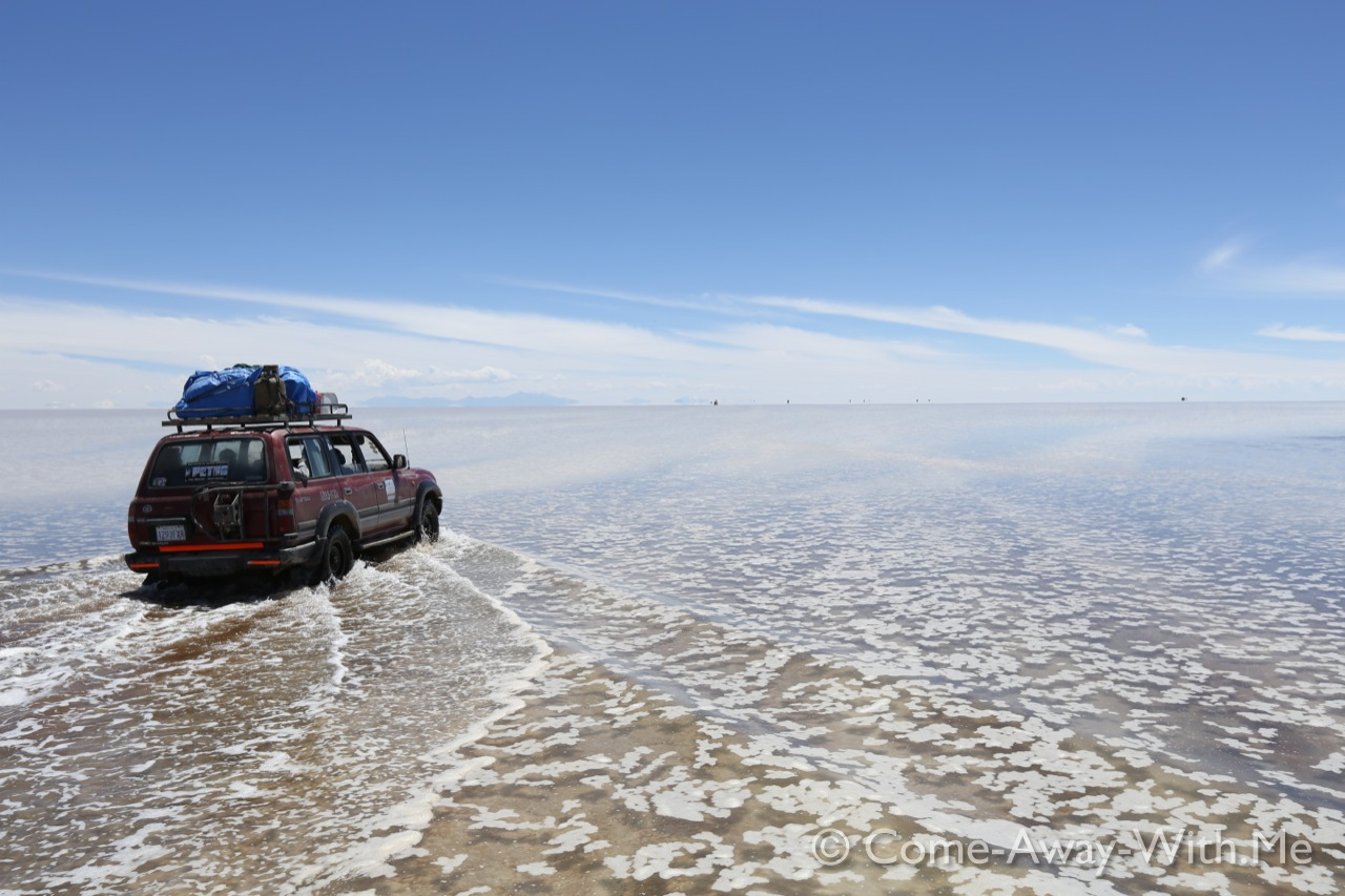 Driving on the Salar