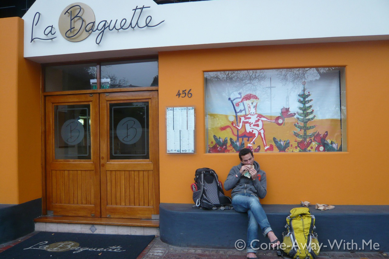 Waiting for the boulangerie to open
